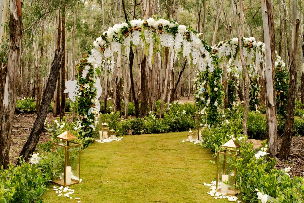Ceremony arch way
